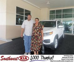 Southwest KIA Mesquite Texas Customer Review - Saturday, October 20, 2012    we have enjoy all the service today and looking forward to becming family    Leon Harrison