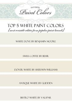 tricks for choosing the best white paint color | white paint