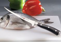 Fillet (filet) knives are great to have in your kitchen or tackle box. The long narrow blades allow the manipulation of the flesh and bones of fish.