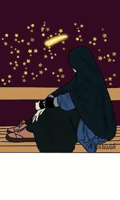 Girly Drawings, Unique Drawings, Anime Muslim, Muslim Hijab, Girl Cartoon, Cartoon Art, Best Facebook Profile Picture, Swag Girl Style, Hijab Drawing
