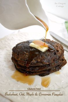 Gluten Free Buckwheat-Oat Maple and Cinnamon Pancakes - a great addition to your weekend breakfast menu: http://anoregoncottage.com/gluten-free-buckwheat-oat-maple-cinnamon-pancakes/