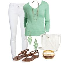 I love mint and white for spring!