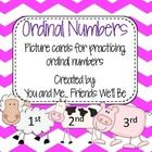 Ordinal Numbers Freebie! This pack includes picture cards to be used for an introduction or practice of ordinal numbers and positioning.  Within this pack you will...