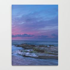 Pink Sunset Notebook by newburydesigns Galaxy Notebook, Pink Sunset, Ocean Art, Notebooks, Tapestry, Painting, Decor, Hanging Tapestry, Tapestries