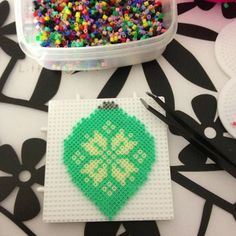 Christmas bauble ornament hama perler by tjpe