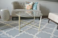 Olive Lane: Ikea Hack : Vittsjo Coffee Table