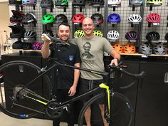 Chris is super exited to go ride his new TCR #fun #freedom #fitness #bicyclewarehouse #bicycles #sanmarcos #happy #motivation #roadbikes