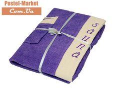 Женский набор в сауну Petek La Bella Махра фиолетовый. Купить в Украине (Постель Маркет, Киев)