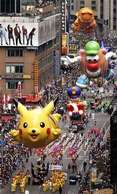 Macy's Thanksgiving Day parade. My fav! Best reason NOT to waste day at someone else's house and to just stay home...bake..and decorate for Christmas!:)