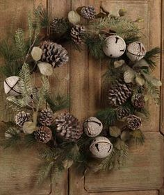 Sleigh Bell and Pinecone Wreath Bethany Lowe
