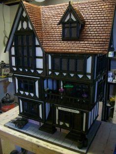 Handmade Bespoke Tudor 12th Scale Doll House by kjbc1960 on Etsy, $6500.00