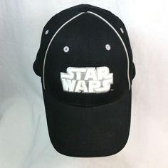 Star Wars Lucasfilm Black White Embroidered Logo Fitted Cap Hat One Size   LucasfilmLTDTM  BaseballCap e04f05f299e