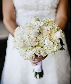 Roses, Hydrangea, Gardenia, Gems- Bridal bouquet - Flowers of the Field Las Vegas Rose Bouquet, 12 Roses, White Roses, Pink Roses, Classic Wedding Flowers, Floral Wedding, Wedding Designs, Wedding Ideas, Vestidos