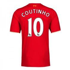 Günstige fußballtrikots Liverpool 15-16 Coutinho Heim Trikot