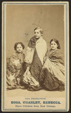 "Rosa, Charley and Rebecca 1863, mixed race ancestry New Orleans.Historic Photographs Of ""White"" Slaves"