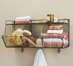3 bin wire shelf for extra storage in the kitchen