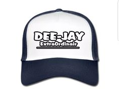 €17,99 order NOW! DeeJay ExtraOrdinair White/Blue Trucker Cap. Match it with a DeeJay ExtraOrdinair hoody or T-shirt.