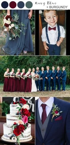 Wedding trends come and go, but navy blue is always the classic wedding color that never fades. If you're trying to choose wedding colors —. Weddings 8 Best Navy Blue Wedding Color Ideas for 2020 - EmmaLovesWeddings Wedding Color Combinations, Wedding Color Schemes, Table Decoration Wedding, Navy And Burgundy Wedding, Navy Wedding Colors Fall, Burgendy Wedding, Navy Rustic Wedding, Burgundy Bridesmaid Dresses Long, Wedding Colours