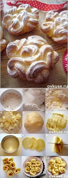 Air lace Buns - Simple recipes |  Ovkuse.ru | Recipe here: http://i.ovkuse.ru/blogs/kulinarija/vozdushnye-kruzhevnye-bulochki.html?utm_source=email&utm_medium=everyday&utm_campaign=favorites-top