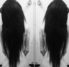 Long scene hair