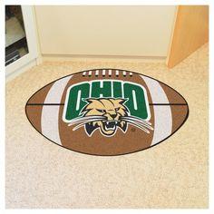 NCAA 20.5 x 32.5 in. Football Rug, Ohio Bobcats