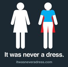 Redesigned women's bathroom sign breaks old stereotypes to become empowering. #itwasneveradress