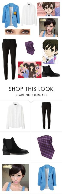 """Haruhi Fujioka (Ouran High School Host Club)"" by xxkawaiiunicornxx on Polyvore featuring Uniqlo, Gucci, Kiton and Clair Beauty"