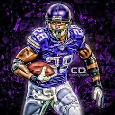 RB Adrian Peterson Of The Minnesota Vikings