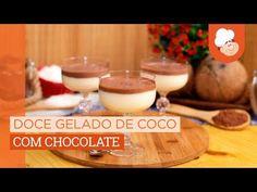 Receita de Doce gelado de coco com chocolate - Tudogostoso