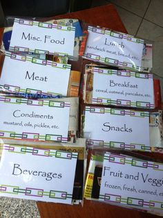 coupon organizer label ideas