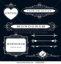 Calligraphic Border Stock Photos, Images, & Pictures | Shutterstock