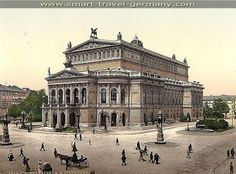 """(Berlin) """"The Opera House is a credit to any city. It is very large and I think in finish fully equals the Grand Opera House of Paris, which is said to be the finest in the world. We saw the Opera of Mignon in Berlin and think it was well done; the music was first class."""" WSC, 1884"""
