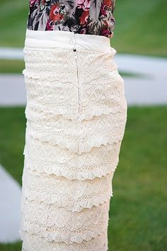 love the long lace skirt!