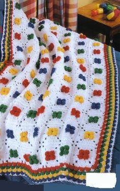 Crochet Afghan Patterns Afghans Dinosaur Clown Blankets Kid Pleasing Book Square - Afghan Patterns