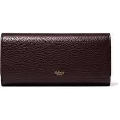 Mulberry Textured-leather continental wallet ($420) via Polyvore featuring bags, wallets, oxblood bag, burgundy bag, red bag, burgundy wallet and snap closure wallet