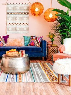 Home decor is always Essential! Discover more orange bohemian interior design details at http://essentialhome.eu/