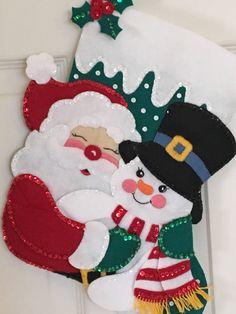 Bucilla 15 Santa and Snowman Felt Christmas Stocking Christmas Stocking Images, Felt Christmas Stockings, Felt Stocking, Handmade Christmas, Christmas Sweaters, Christmas Crafts, Christmas Ornaments, Diy Christmas Decorations Easy, Holiday Crafts