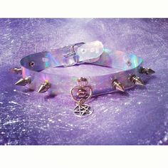 Holographic Pentagram Choker by SweetSweetLust on Etsy, $24.00