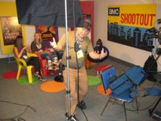 DP Jan Beran pans for camera inside Sunday Morning Shootout studio at SDCC Comic Conventions, San Diego Comic Con, Sci Fi Movies, Sunday Morning, Studio, Studios