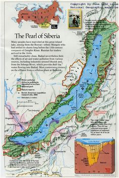 The Pearl of Siberia, Lake Baikal, 1992, Nat Geo >>> Something like 40% of the world's fresh water all in this one lake, I think it is.