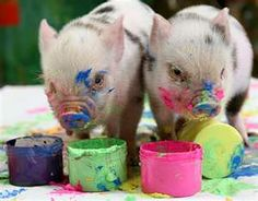 Someone out there has piggies. And their piggies paint pictures- OMG