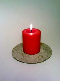 Candle Holder 4 Drink Coasters Concrete by DeerwoodCreekGifts, $32.00