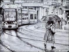 Вдохновляющие картины шариковой ручкой от Андрея Полетаева.