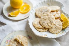 Meyer Lemon Crinkle Cookies from White On Rice Couple. Metric measurements and looks easy