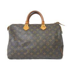 Auth $895-Retail LOUIS VUITTON Monogram SPEEDY 35 Bag Handbag Lock LV MALLETIER #LouisVuitton #Satchel
