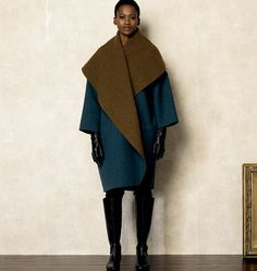 new Vogue blanket coat - V8930 | Naaipatroon voor deze statement jas - very easy!