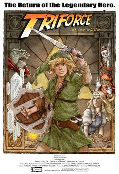 Zelda Triforce Indiana Jones parody cover