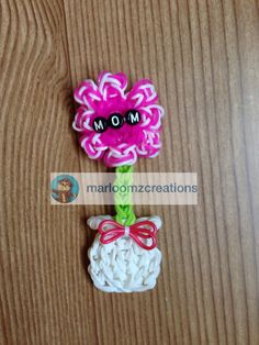 Rainbow Loom flower Pot for Mother's Day