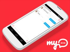 myChat Android App: Dialog Screen Concept / My.com  Design by My.com team — http://www.behance.net/mycom.