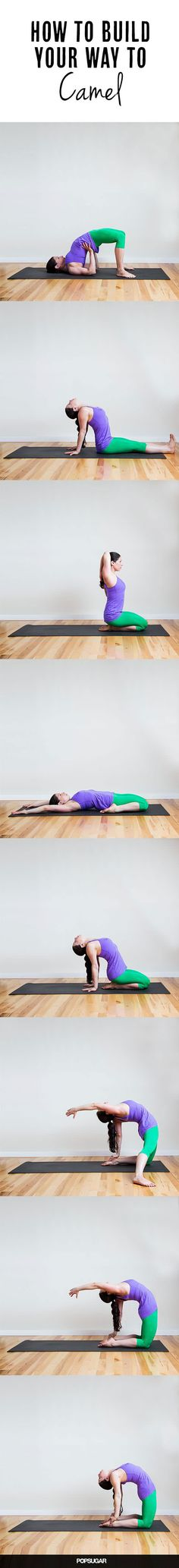 The camel pose benefits the spine and the front of the body by providing an intense stretch. Camel pose helps to relieve backache, helps strengthen the lower… Kundalini Yoga, Yoga Meditation, Yoga Fitness, Sport Fitness, Yoga Sequences, Yoga Poses, Yoga Pilates, Mudras, Sup Yoga
